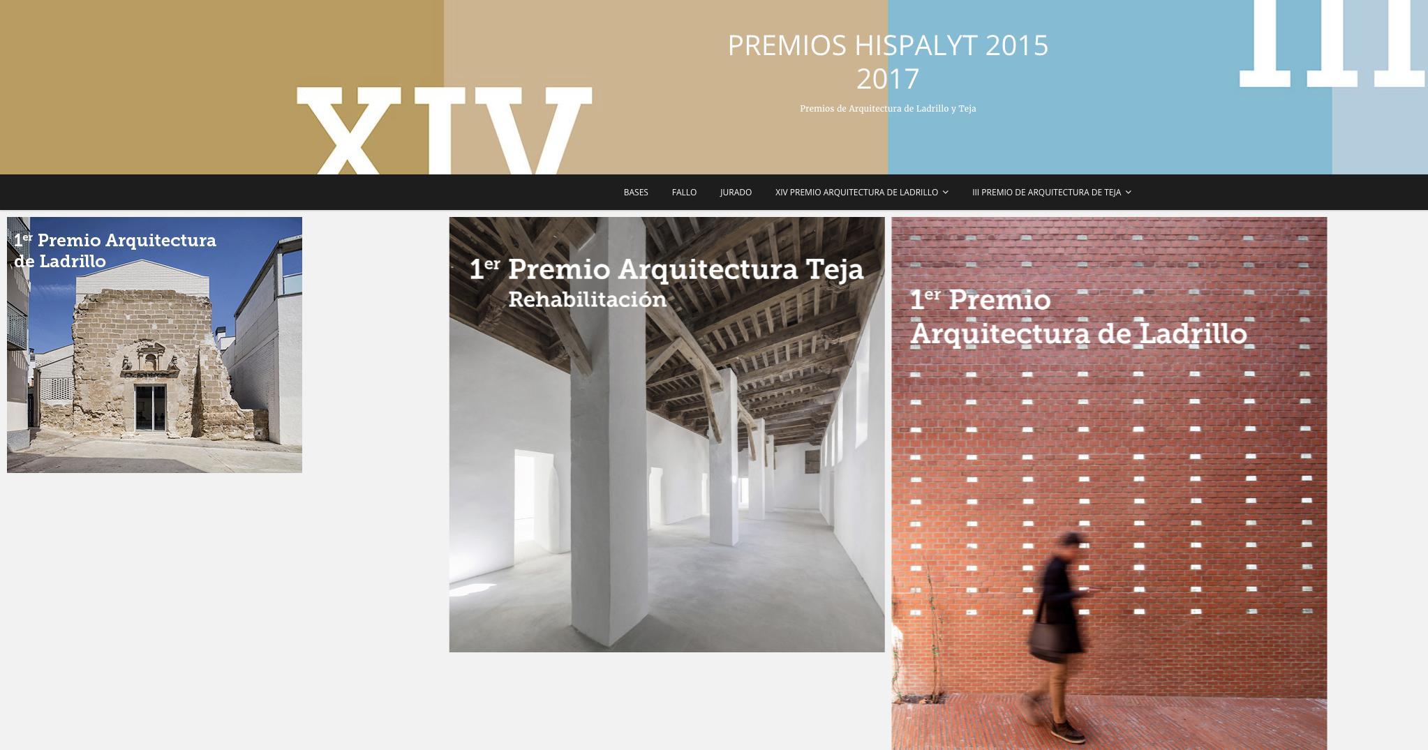 Premios de Arquitectura de Hispalyt 2015-2017, (XIV Premio de Arquitectura de Ladrillo y III Premio de Arquitectura de Teja)