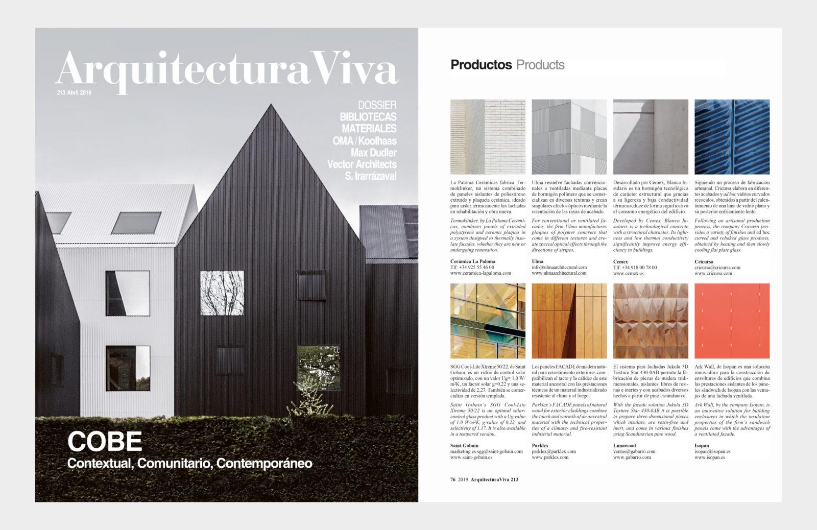 Arquitectura Viva publica Termoklinker en su especial fachadas
