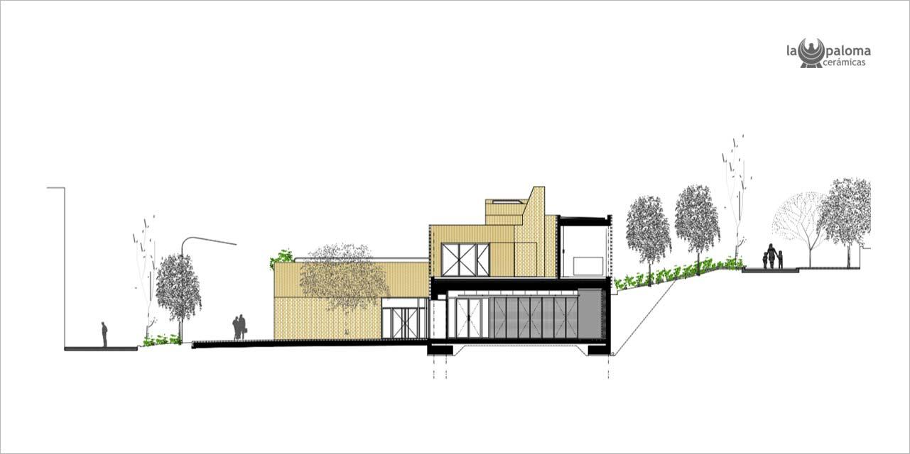 Plano Primer Premio de Arquitectura, categoría ladrillo de Hispalyt
